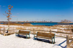 Free Empty Benches In Toronto Canada Stock Photos - 4991653