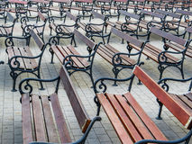Empty benches Stock Photos