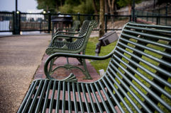 Empty Benches Royalty Free Stock Images