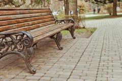 Empty benches Stock Photo