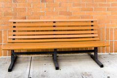 Empty Benck. A park like bench made of recysled materials Stock Image