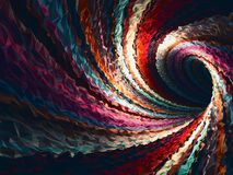 Empty bent triangulated spiral tunnel, 3d Stock Photography
