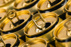Empty beverage cans Stock Photos