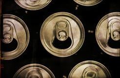 Empty beverage cans Royalty Free Stock Photography
