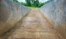empty bicycle lane make with concrete. Royalty Free Stock Photography