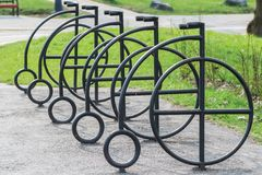 Empty bicycle parking bay Stock Photography