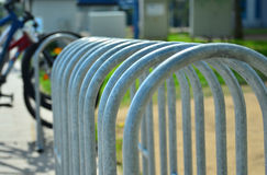 Empty bicycle parking spaces Royalty Free Stock Image