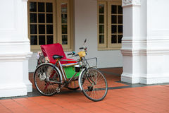 Empty bicycle rickshaw Royalty Free Stock Photos