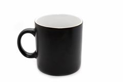 Empty big black office mug Royalty Free Stock Photography