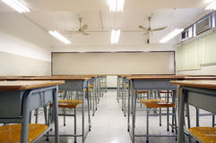 Empty big classroom Royalty Free Stock Images