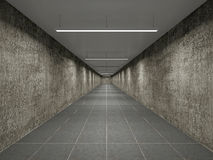 Empty big corridor Royalty Free Stock Images
