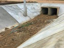 Empty Big drain near the road. At thailand Stock Photos