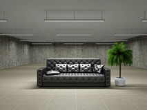 Empty big hall with sofa Royalty Free Stock Image