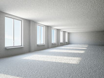Empty big hall with window Royalty Free Stock Photography