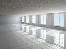 Empty big hall with window Royalty Free Stock Image