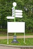 Empty biilboard in park Stock Photo