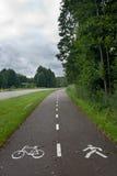 Empty bike path Stock Photo