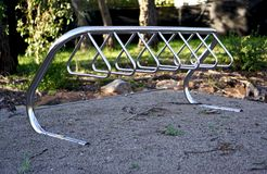 Empty bike rack royalty free stock photos