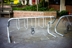 Empty bike rack Royalty Free Stock Images