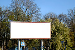 Empty billboard.  royalty free stock photo