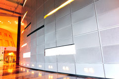 Empty billboard. Indoor. modern building royalty free stock photography