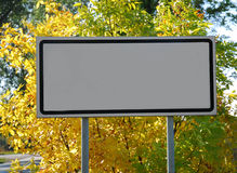 Empty billboard Stock Photo