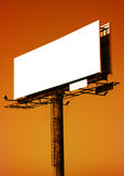 Empty billboard. Signpost panel @ sunset time stock photography