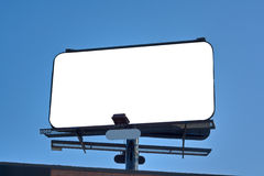 Empty Billboard. Big empty billboard on top of building.(copy space for advertisement Royalty Free Stock Photos