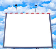 Empty billboard against blue sky Stock Image