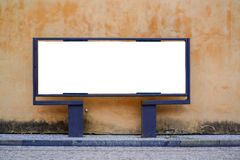 Empty billboard against urban background Royalty Free Stock Images