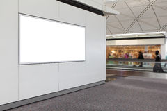 Empty billboard in airport Royalty Free Stock Photo