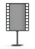 Empty billboard as a film, front view Stock Photo