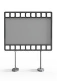 Empty billboard as a film, front view Stock Image