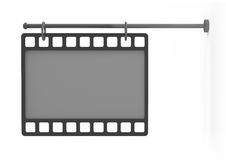 Empty billboard as a film, front view Stock Photos