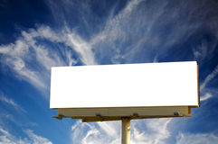 Empty Billboard and blue cloudscape royalty free stock photos