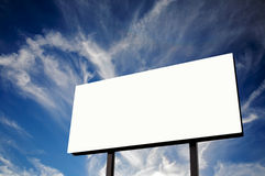 Empty Billboard and blue cloudscape royalty free stock images