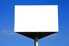 Empty Billboard with blue sky Royalty Free Stock Images