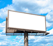 Empty billboard and blue sky Stock Photo