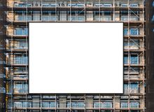Free Empty Billboard Canvas On Building Facade, Advertisment Mockup Royalty Free Stock Image - 137689416