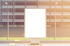 Empty billboard, center, toned Royalty Free Stock Photo