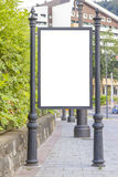 Empty billboard in city center Royalty Free Stock Photography