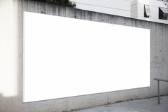Empty billboard on the concrete gray background Royalty Free Stock Images