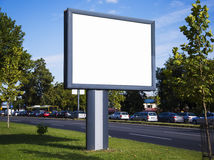 Empty billboard. With copy space stock images