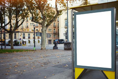 Empty billboard with copy space for your text message or promotional content, electronic advertising mock up, public information b Royalty Free Stock Photos