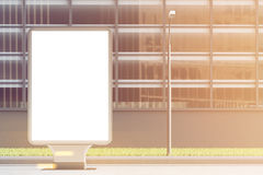 Empty billboard, front, toned Stock Photography