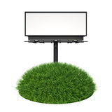Empty billboard with grass Stock Photography