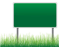 Empty billboard grass below. Royalty Free Stock Photo