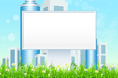 Empty Billboard in the Grass Stock Photo