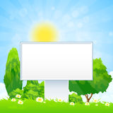 Empty Billboard in the Grass Royalty Free Stock Photos