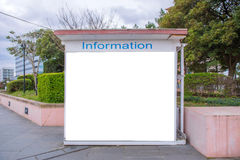 Empty billboard or information board in City Street for new adve Royalty Free Stock Image